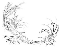 Old Fashioned Victorian Calligraphy Bird Line Drawing stock vector art 10754980 - iStock