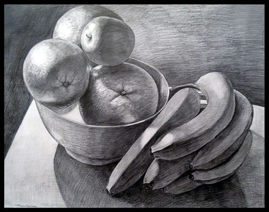 composition black and white still life drawing