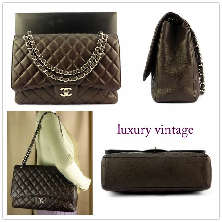 Chanel Maxi Jumbo Brown Color Caviar Rm15xxx More Info Pls Pm Or Contact Us Chanel Collection Chanel Brand Chanel Maxi