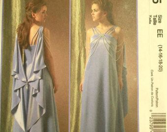 """Padme Amidala, Evening Gown, Star Wars Costume -2000's - McCall's Pattern 4995 Uncut  Size 14-16-18-20  Bust 36-38-40-42"""""""
