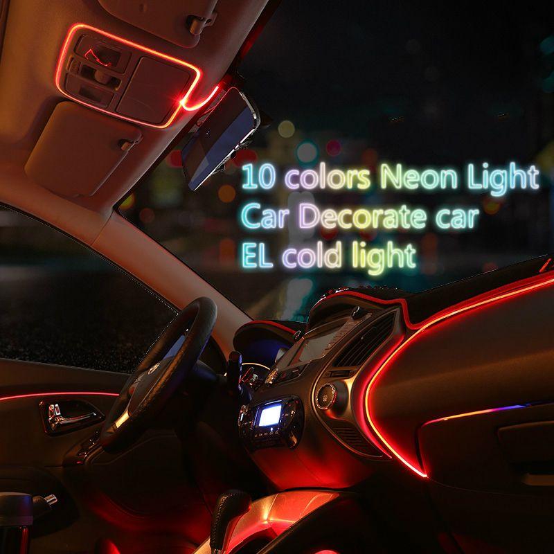 3 m auto luz interior reinstala el alambre de ne n flexible de sujeci n borde decorar coche con - Poner luz interior coche ...