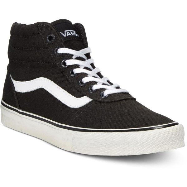 Vans Women's Milton Hi Canvas High-Top Sneaker ($65) ❤ liked on ...