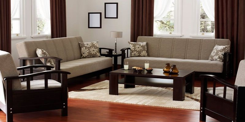 Sleek Wooden Sofa Set In 2020 Wooden Sofa Designs Wooden Sofa Set Designs Wooden Sofa