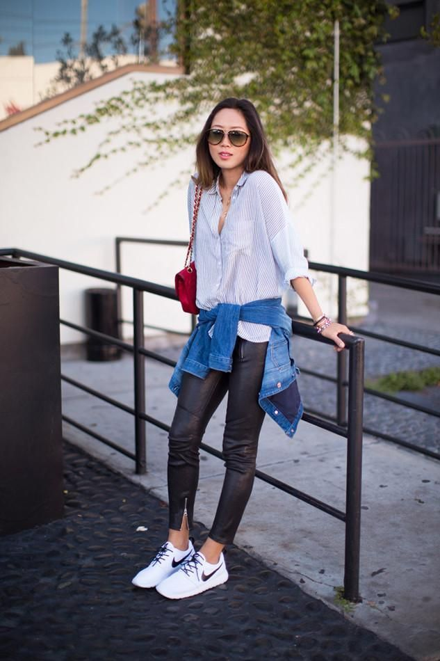 How To Wear Sneakers for Spring: 85 Street Style Photos