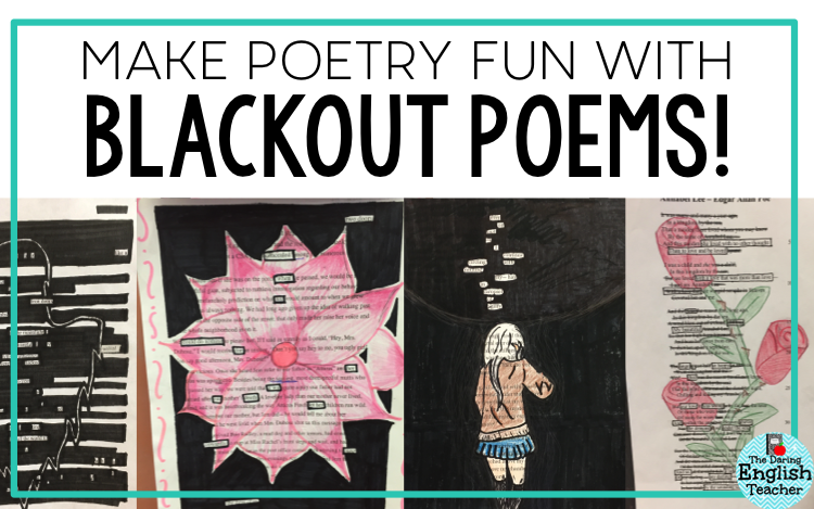 blackout poetry project for middle school and high school students school ideas blackout. Black Bedroom Furniture Sets. Home Design Ideas