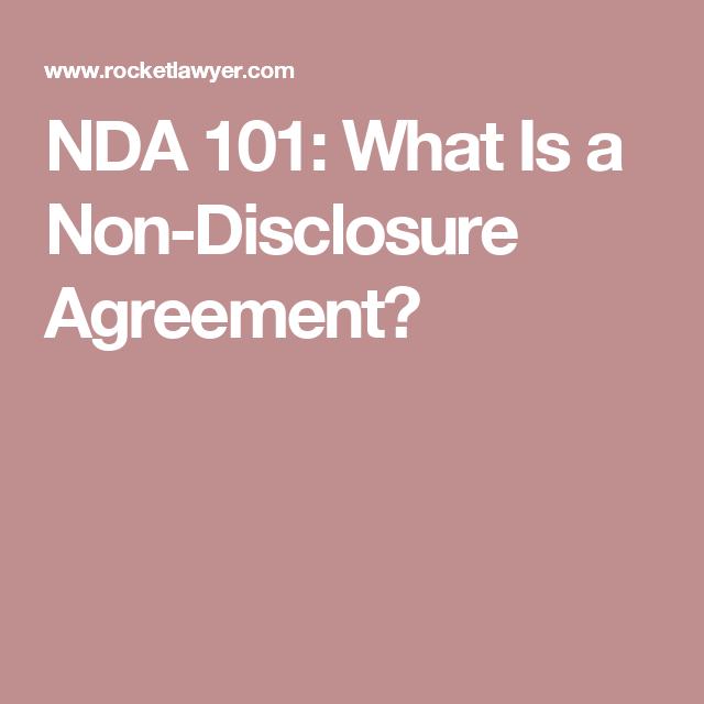 Nda  What Is A NonDisclosure Agreement  Establish A Brand