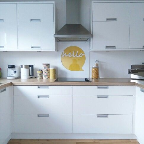 My new DIY kitchen hob splash back. It's great what you ...