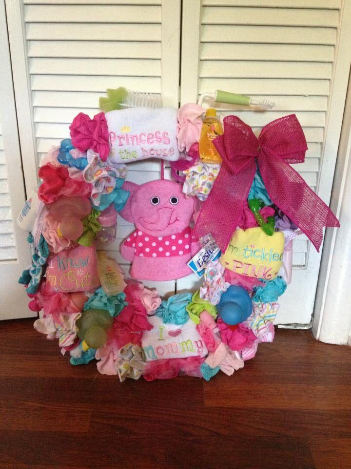 baby shower wreath gift ideas pinterest