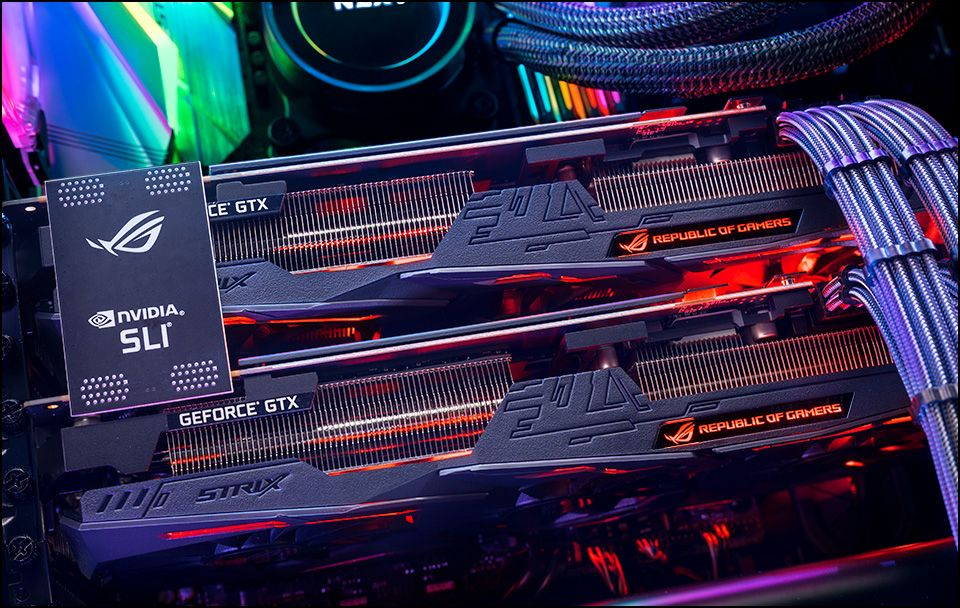 Put Two Asus Geforce Gtx 1080 Ti Graphics Cards Together Along With The Premium Cablemod Pro Modmesh Sleeved Cables And You Ve Go Graphic Card System Pc System