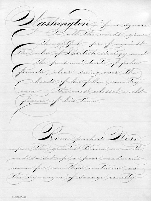Картинки по запросу Michael Sull's Spencerian Guide Sheet