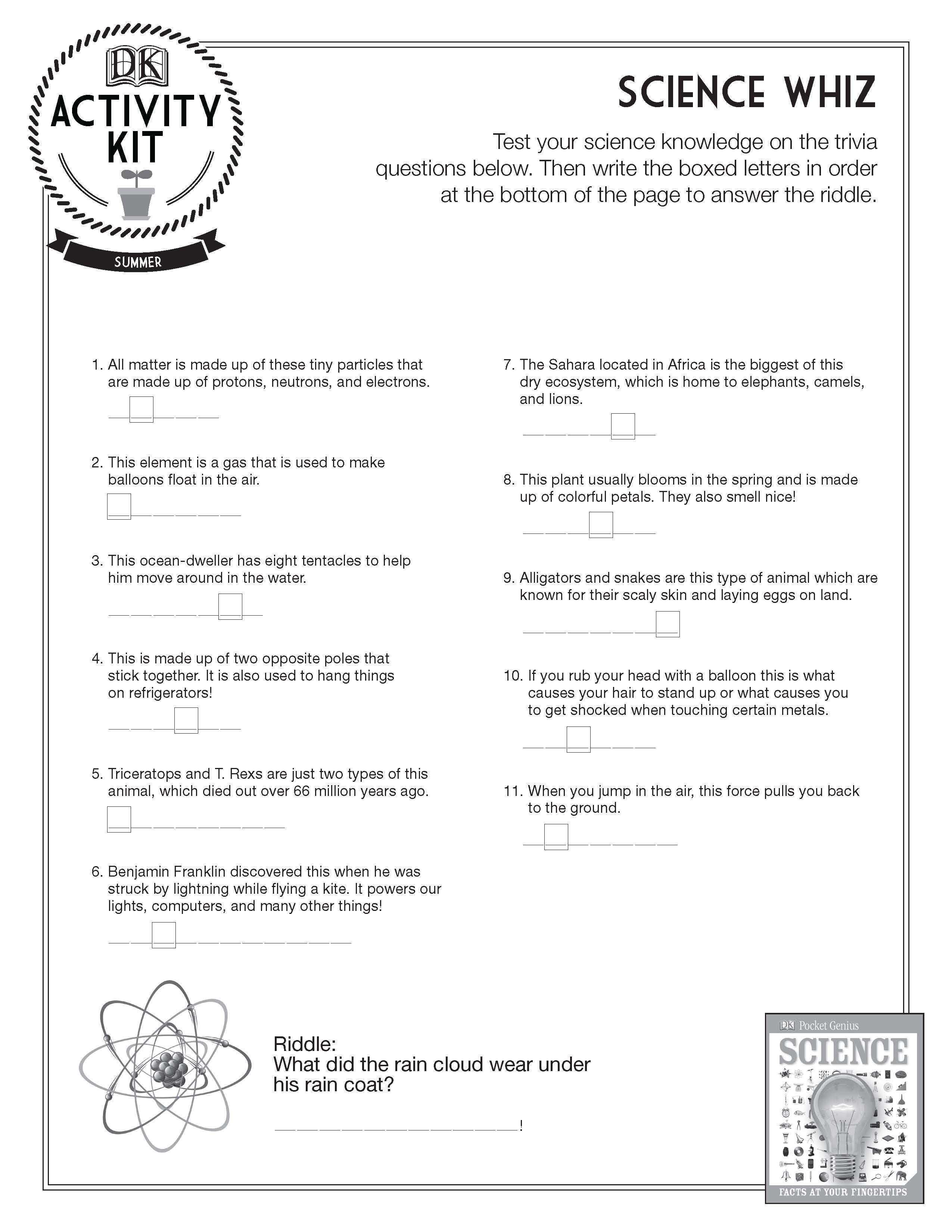 Science Activity Sheet