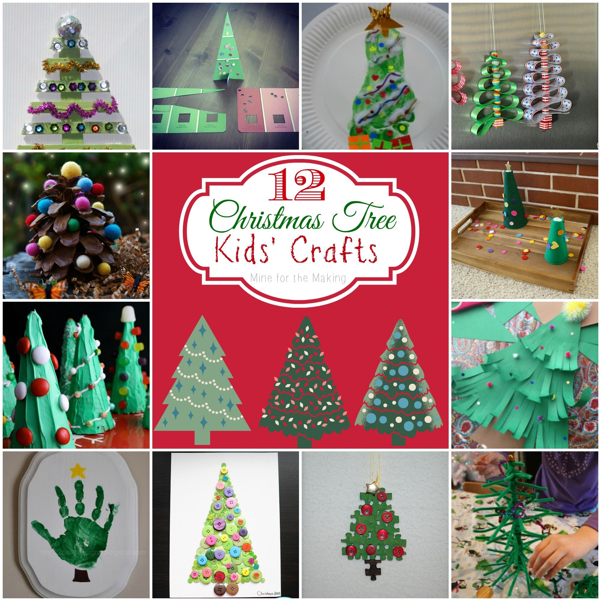 Teach Me Tuesdays 12 Christmas Tree Kids Crafts