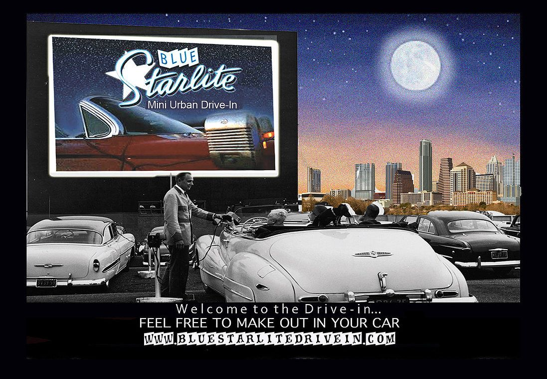 The Home Of The Blue Starlite Drive In Drive In Movie Theater