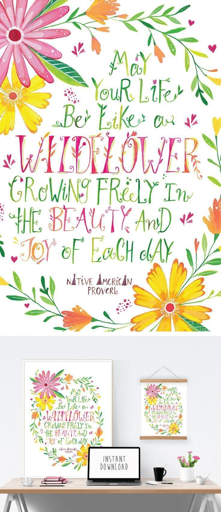 May Your Life Be Like A Wildflower Growing Freely In The Beauty And