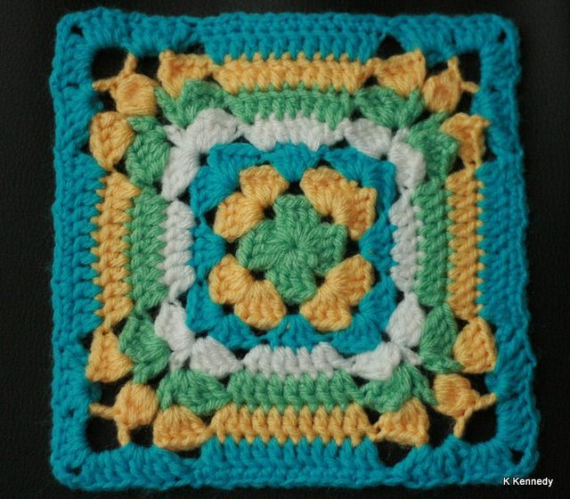 Variation On Granny Square 2 From Leisure Arts 3078 Book 99 Squares To Crochet