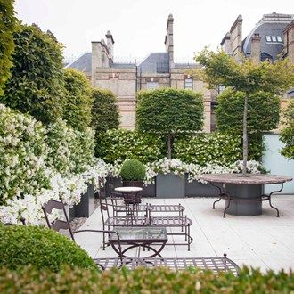 Roof terrace view small city garden gardens and shrub garden landscaping sisterspd