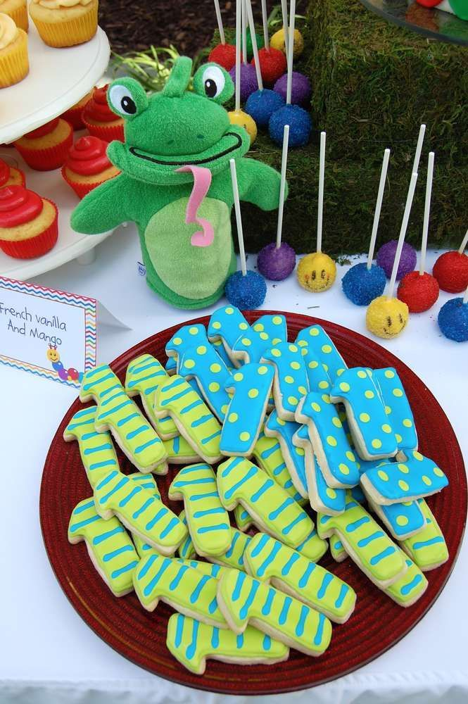 Baby Einstein birthday party cookies! See more party ideas at CatchMyParty.com #boybirthdayparties