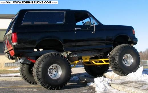 1990 Ford Bronco 4x4 Ford Monster Bronco Lifted Trucks Ford Trucks Bronco Truck