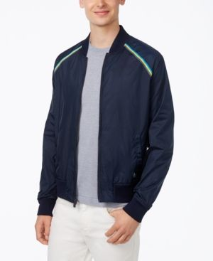 Boys Original Penguin Dark Denim Pique Bomber Jacket