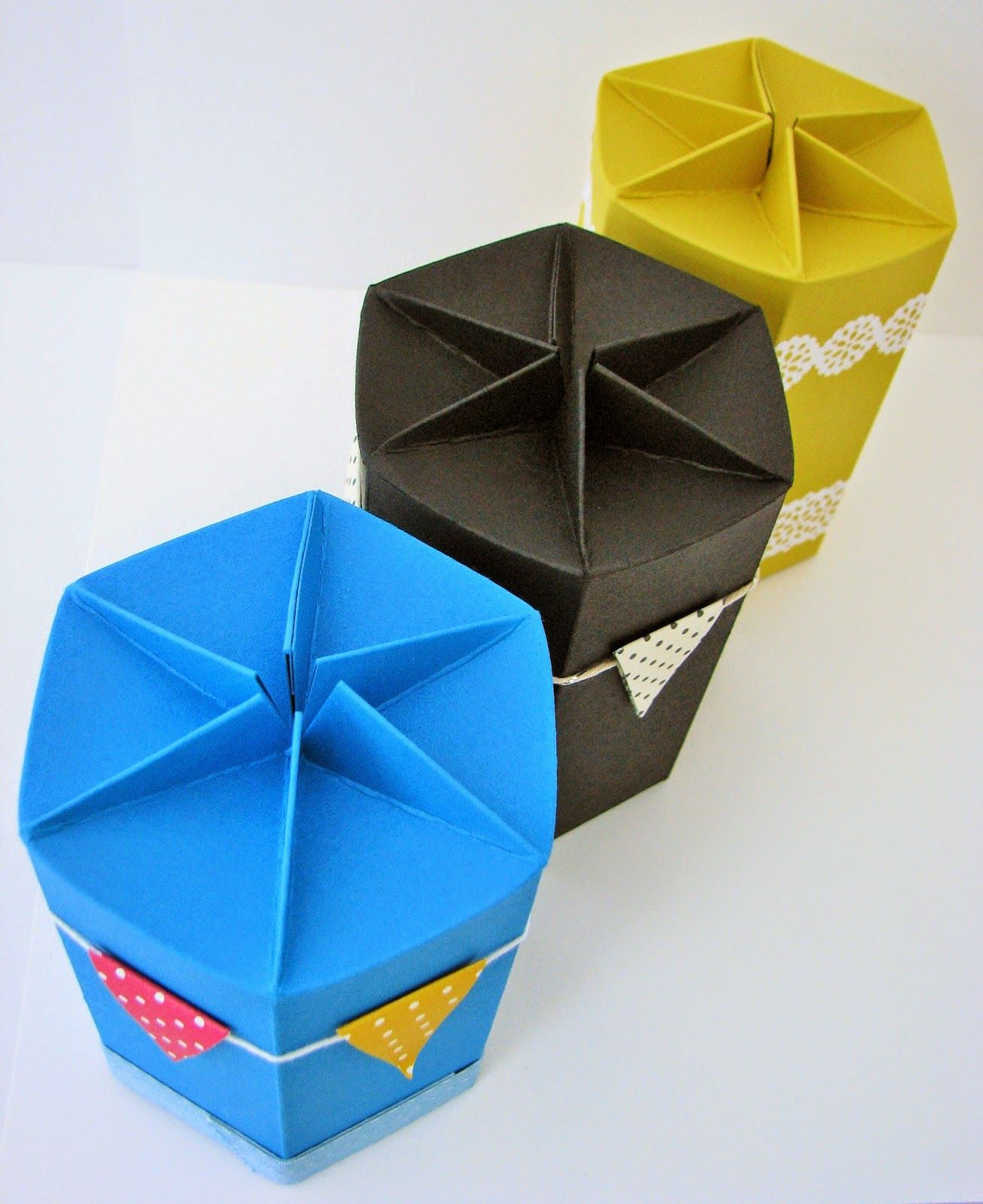 Hexagonal Self Closing Box | Tag, Bags, Boxes and gifts | Pinterest ...