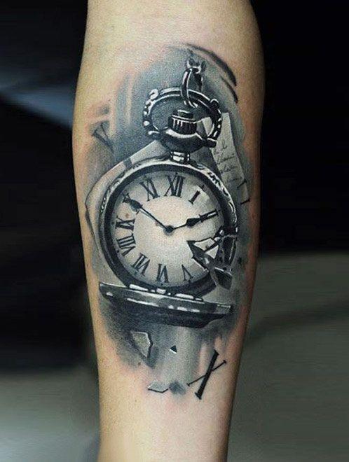 Realistic Time Tattoo by U Gene   Tattoo No. 12485