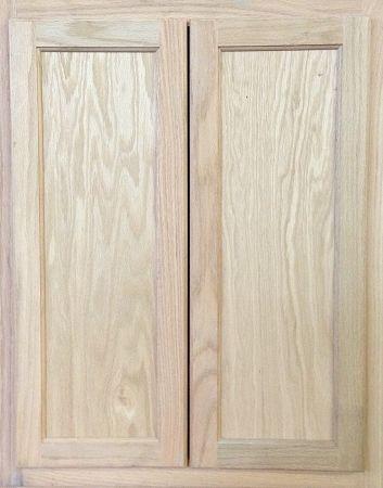 Kitchen Wall Cabinet Unfinished Oak 24 X 30 X 12 Diy