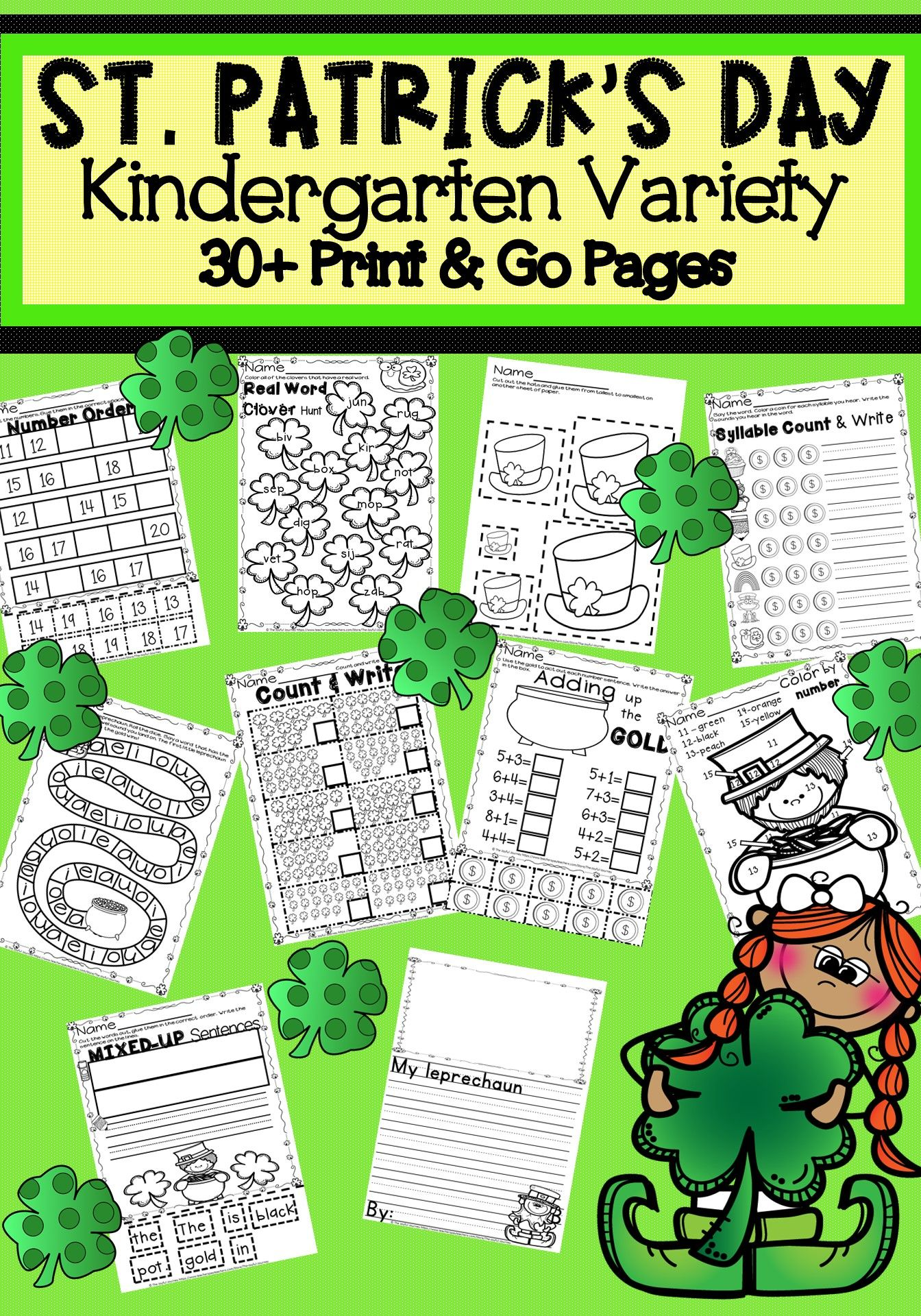 St. Patrick\'s Day | Pinterest | Writing games, Number worksheets and ...