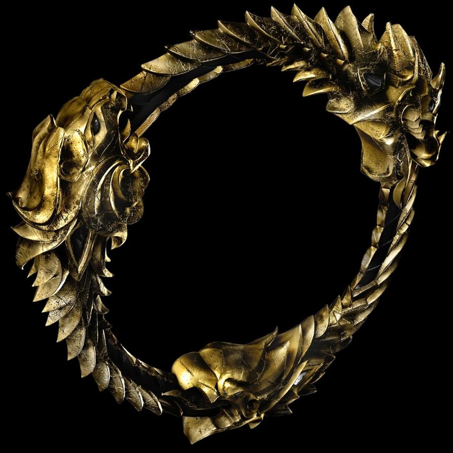 3d The Elder Scrolls Online Ouroboros Logo 1 By Llexandro Elder Scrolls Elder Scrolls Online Ouroboros