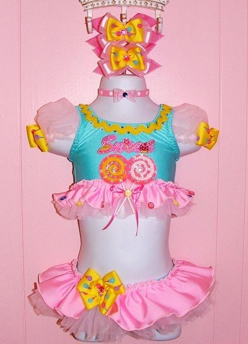 Jordan Grace Princesswear unique custom pageant swimwear