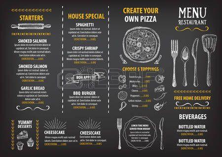 blackboard menu restaurant café menu la conception de modèle