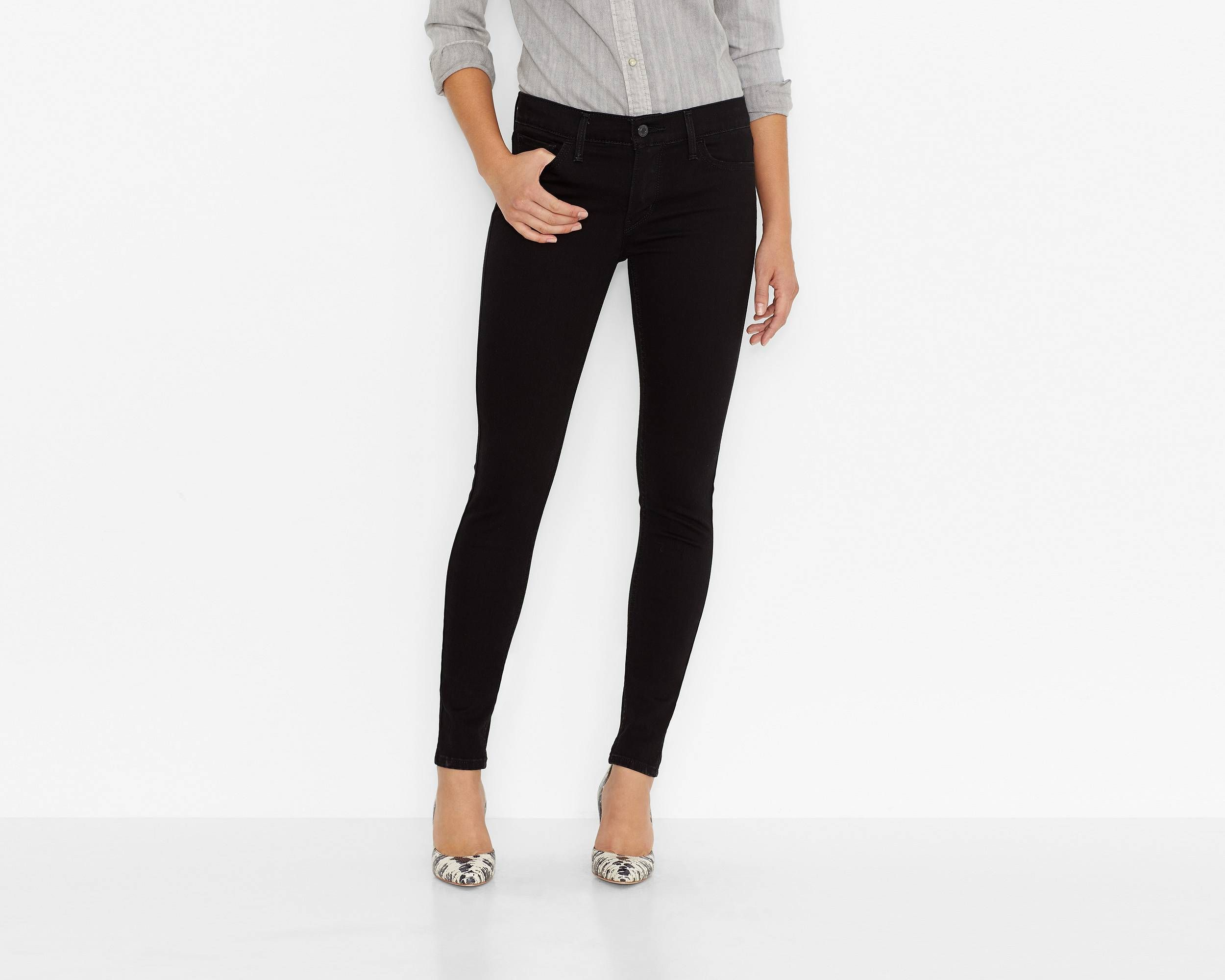 710 super skinny jeans black