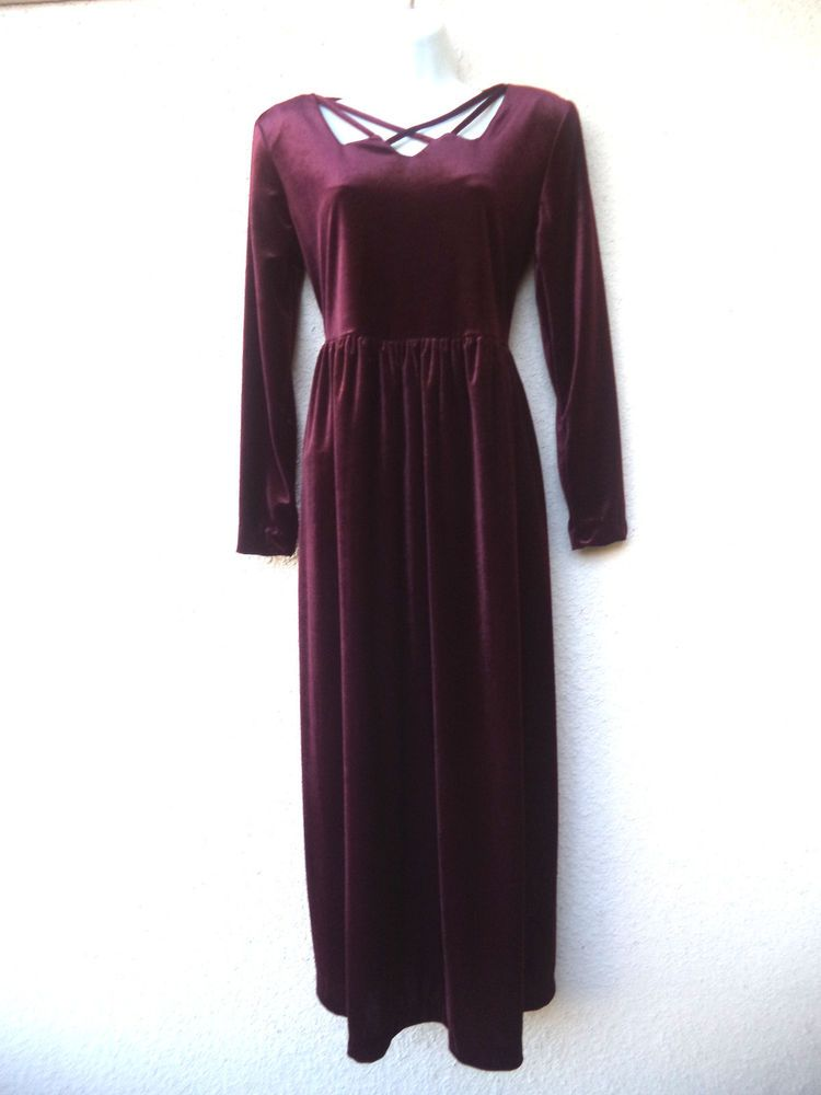 Stretch velvet maxi dress