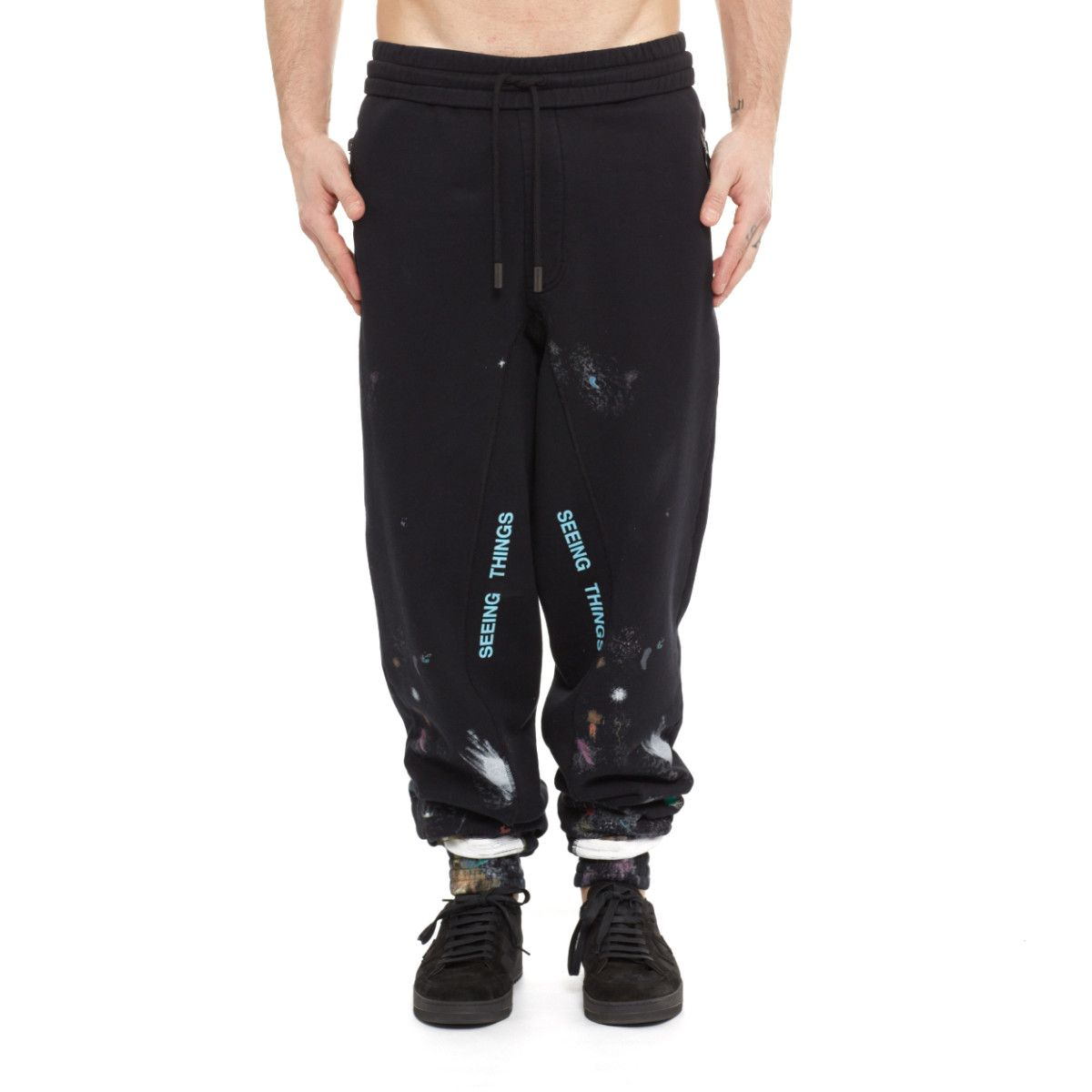 61176992 Diagonal galaxy brushed pants from the F/W2017-18 Off-White c/o Virgil  Abloh collection in black
