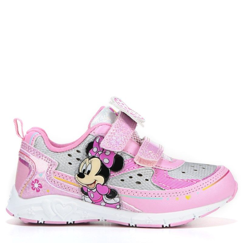 Minnie Mouse Kids Minnie Mouse Light Up Sneaker Toddler/Preschool Shoes (Pink)
