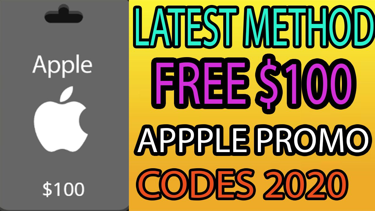 Apple promo codes 2020 free itunes gift card itunes