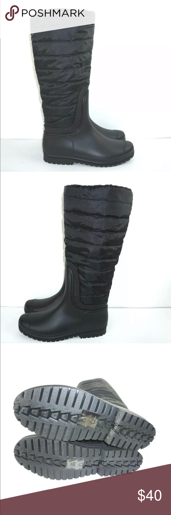 bf8c525972e Henry Ferrera Puffer Down Quilted Winter Boots Women s Knee-High Waterproof  Cold-Weather Fur Boots Crocodile or puffer quilted design Knee height Warm  ...