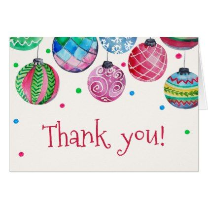 Holiday Ornament Baby Shower Thank You Card - holiday card diy