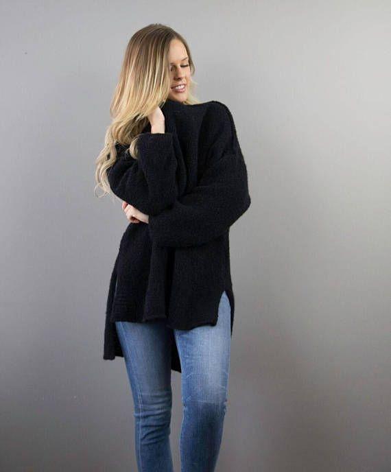 Gran tamaño / grueso suéter de punto / voluminoso. Increíblemente ...
