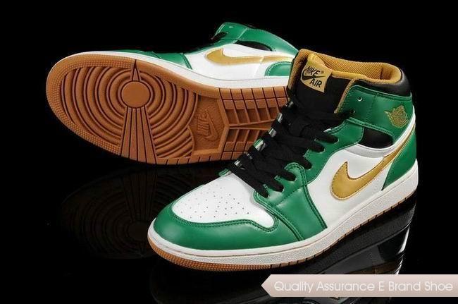 Nike Air Jordan 1 White Green Gold