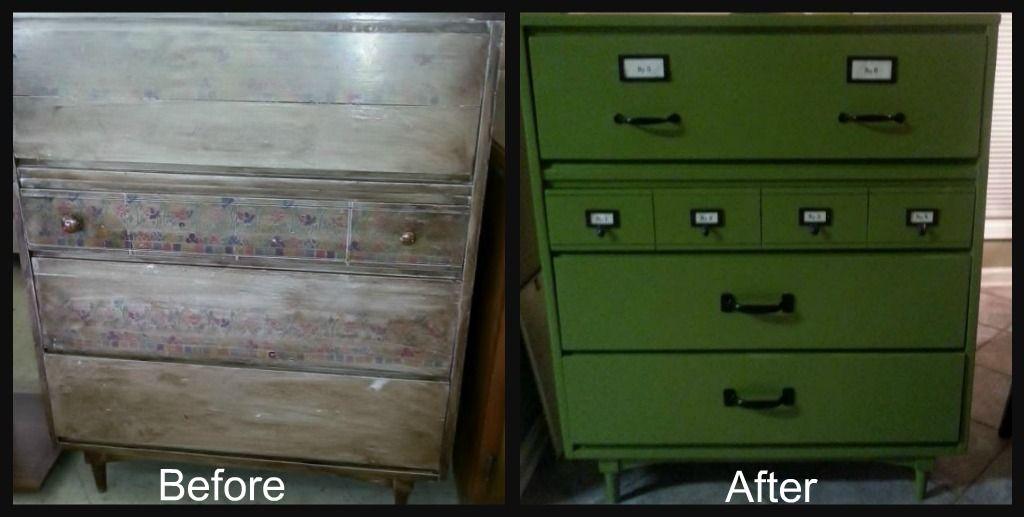 $40 dresser repainted