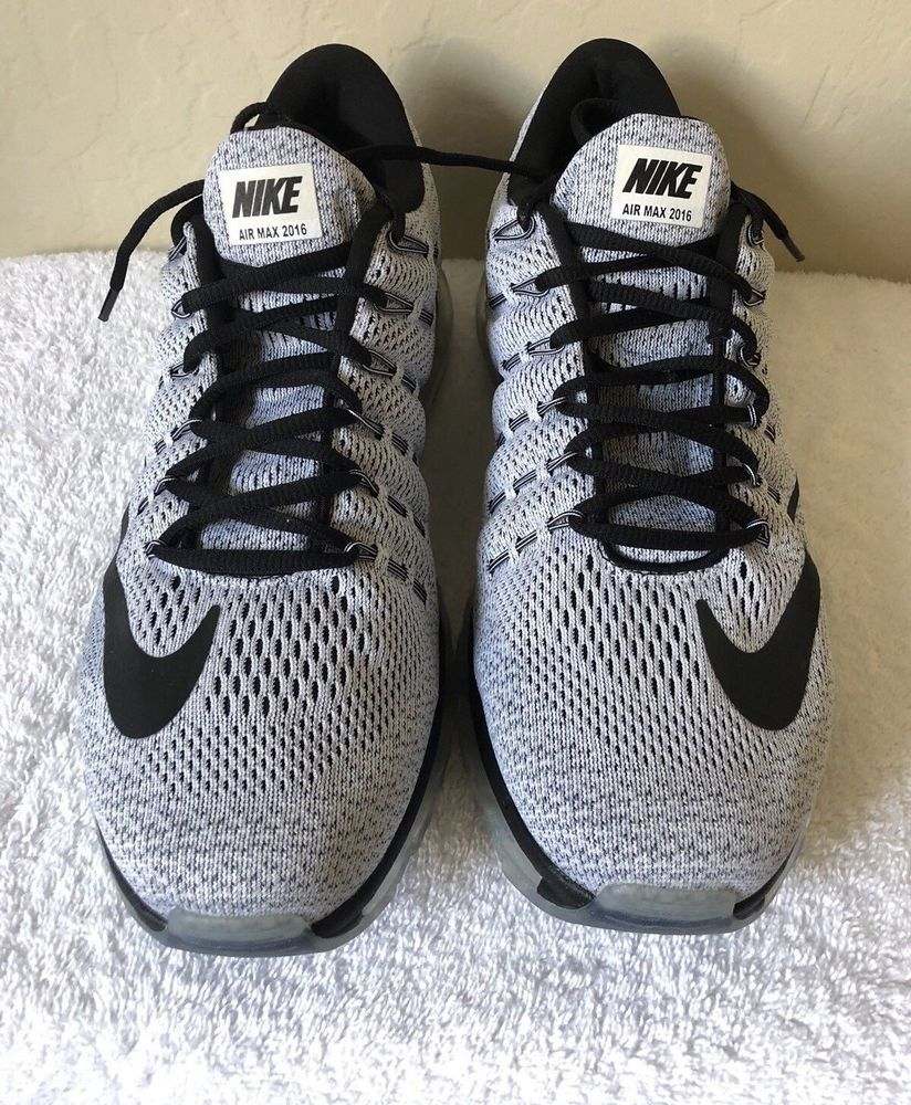 new product e8551 a2069 Nike Air Max 2016 Mens Size 12 Running Shoes White Black  fashion  clothing   shoes  accessories  mensshoes  athleticshoes (ebay link)