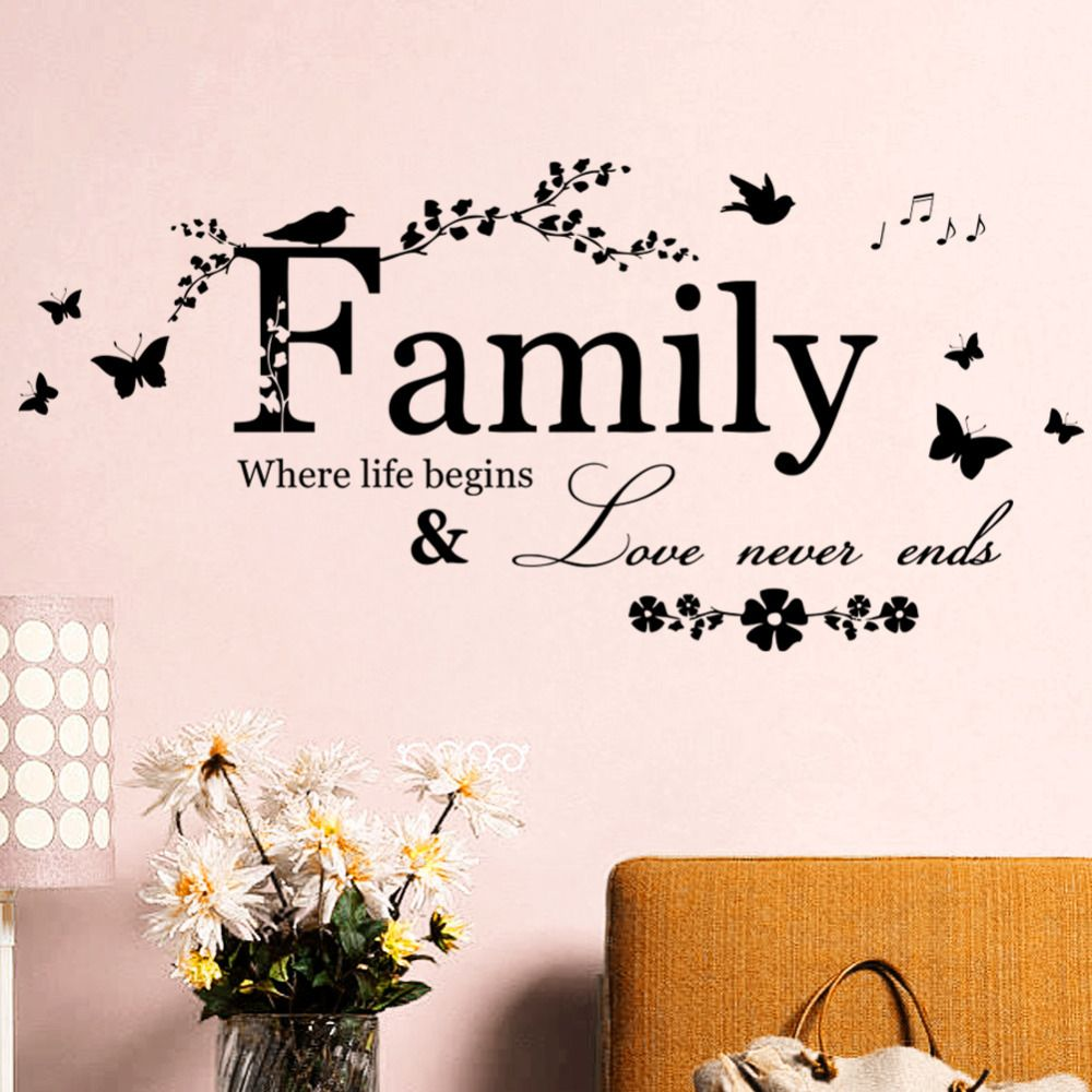Cheap Sticker Mural, Buy Quality Quote Wall Decal Directly From China  Family Wall Sticker Suppliers: Art Family Home Decor Creative Quote Wall  Decals ...