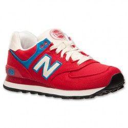 zapatillas new balance 574 mujeres de la lona rojo azul rugby rh pinterest com