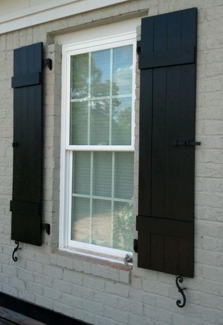 Custom Black Board And Batten Wood Shutters Ebay House Shutters