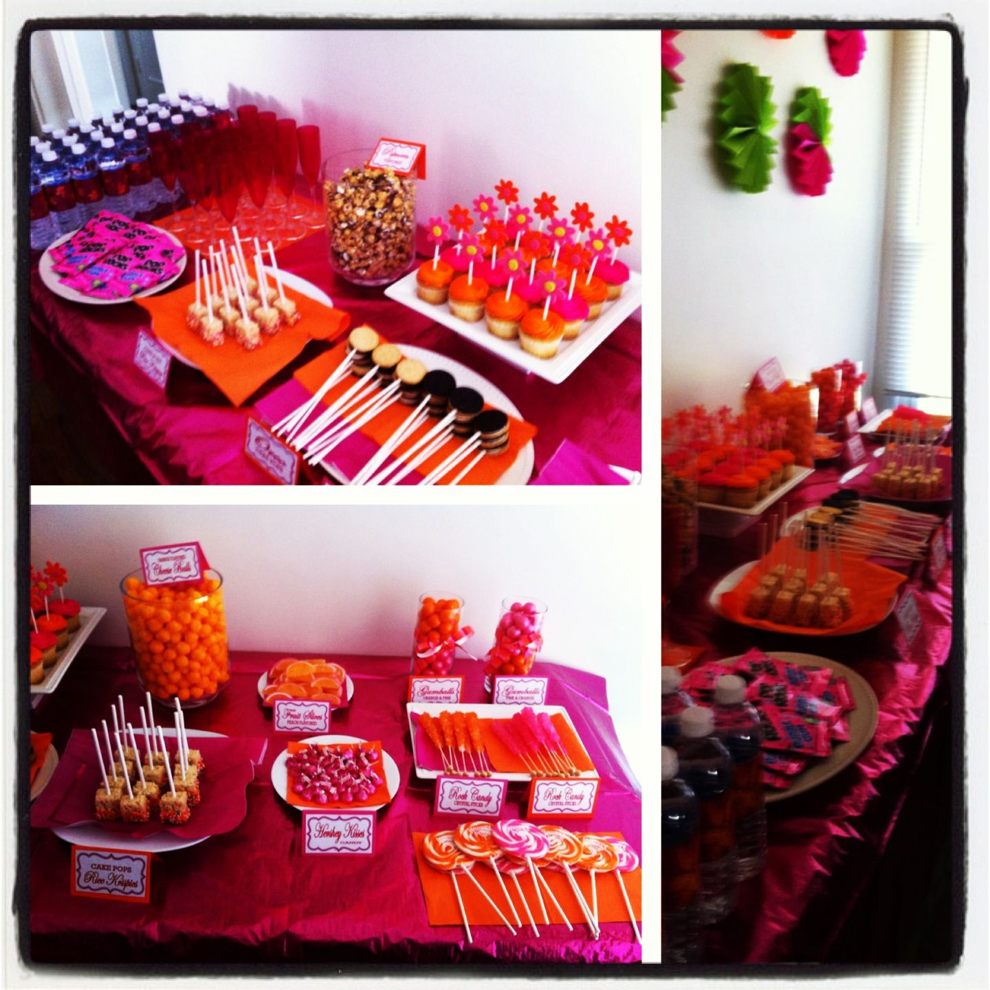 Pink and orange candy buffet!!!