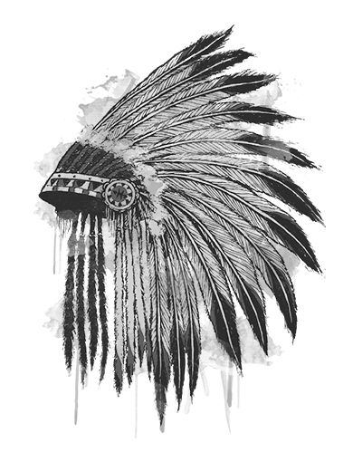 45cec810d05 The native american headdress is a symbol of bravery and protection as it  is only worn by a leader who has done honorable things for his tribe.