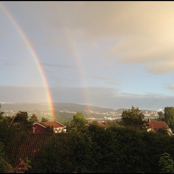 """""""Second double rainbow this week. Where is the unicorn?"""" Instagram, Linguna"""