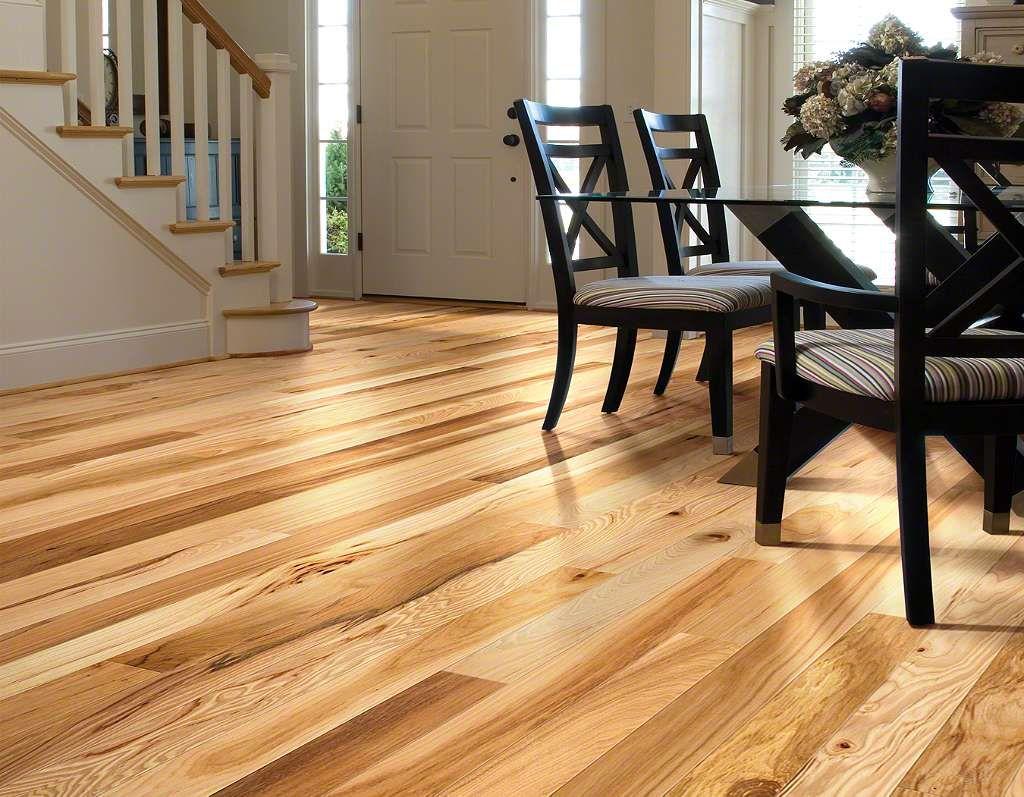 Natural Hickory Vinyl Plank Flooring