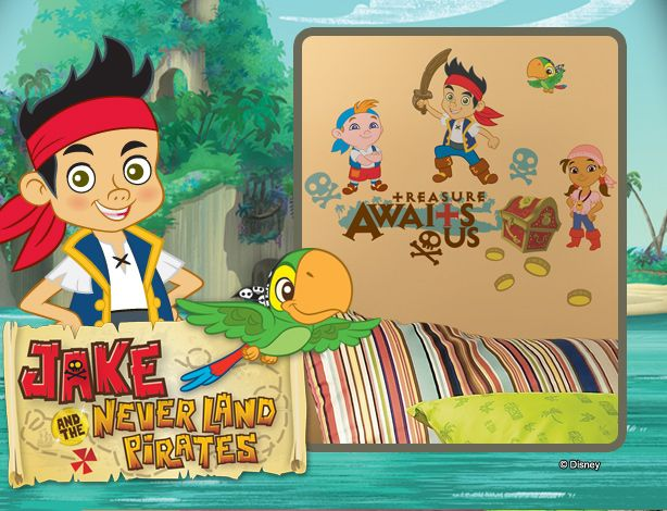 jake and the neverland pirates wall decals | Kid\'s Room ...
