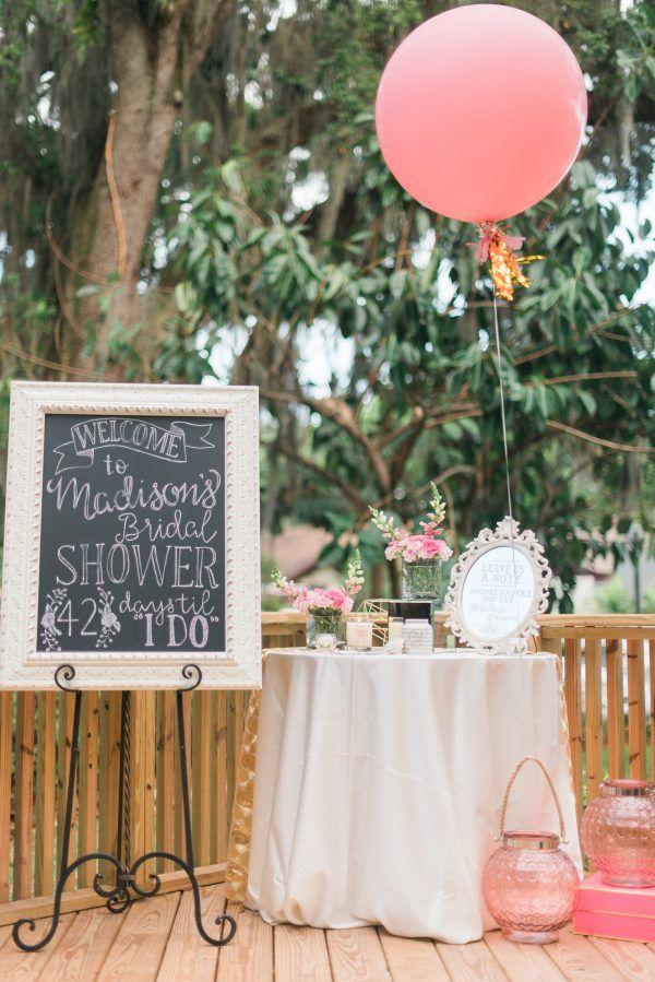 Madisonu0027s Beautiful Outdoor Bridal Shower